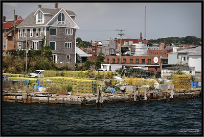 Lobster traps in Gloucester, MA