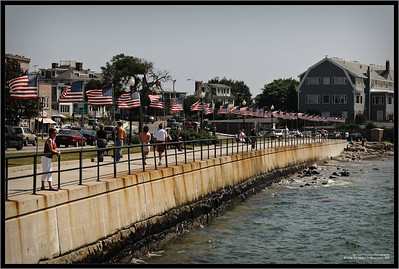 Beside the harbor in Gloucester, MA